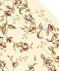 Safavieh Lyndhurst Traditional Floral Beige Rug (8' Round) - Thumbnail 2