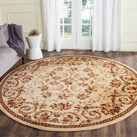 Safavieh Lyndhurst Traditional Floral Ivory Rug - 8' x 8' Round