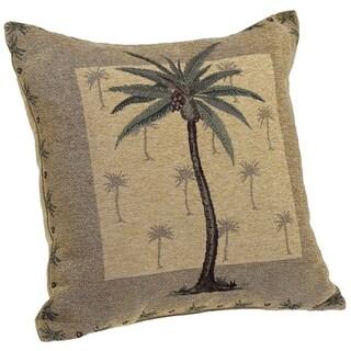Panama Jacquard Chenille Decorative Pillow, Palm Tree