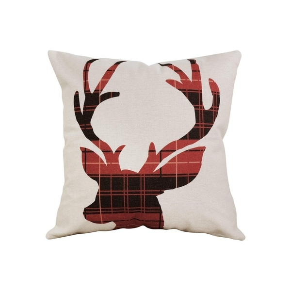 Decorative Scottish Buffalo Plaid Cushion Cover