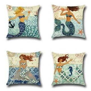 Mermaid Beach Décor Throw Pillow Case