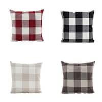 Home Decor Plaid Sofa Throw Pillow Case