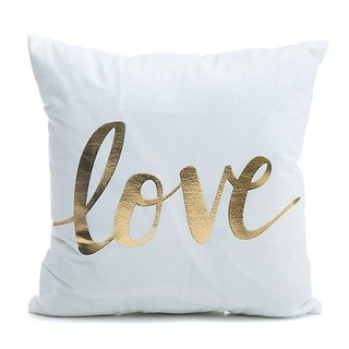 """LOVE"" Throw Pillow Cover"