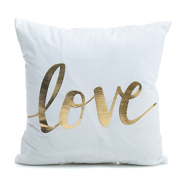 """""""LOVE"""" Throw Pillow Cover"""