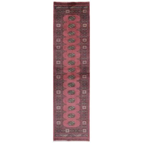 Herat Oriental Pakistani Hand-knotted Bokhara Wool Runner (2'6 x 10') - 2'6 x 10'