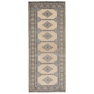 Herat Oriental Pakistani Hand-knotted Bokhara Wool Runner (2'7 x 6'4)