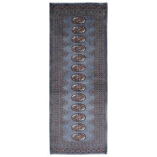 Herat Oriental Pakistani Hand-knotted Bokhara Wool Runner (2'1 x 5'10)
