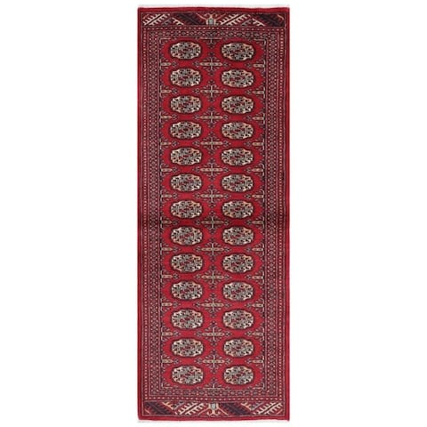 Handmade Bokhara Wool Runner (Pakistan) - 2'1 x 6'