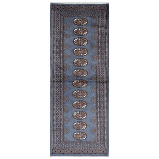 Herat Oriental Pakistani Hand-knotted Bokhara Wool Runner (2'1 x 6')