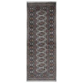 Herat Oriental Pakistani Hand-knotted Bokhara Wool Runner (2' x 5'2)