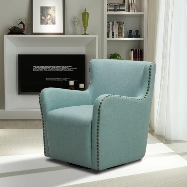 Shop Crosstown Upholstered Swivel Chair - Free Shipping ...