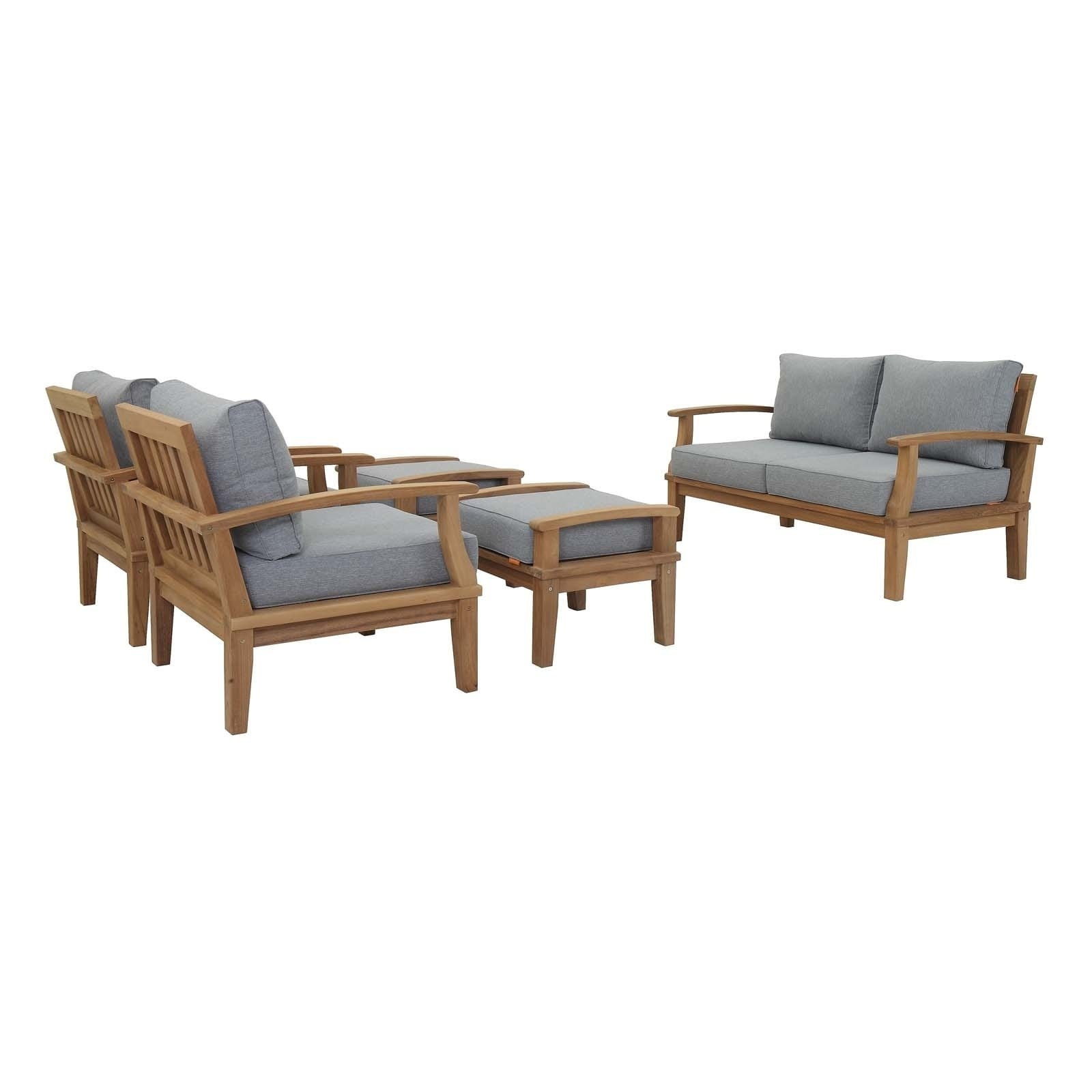 Pier 5 Piece Outdoor Patio Teak Set
