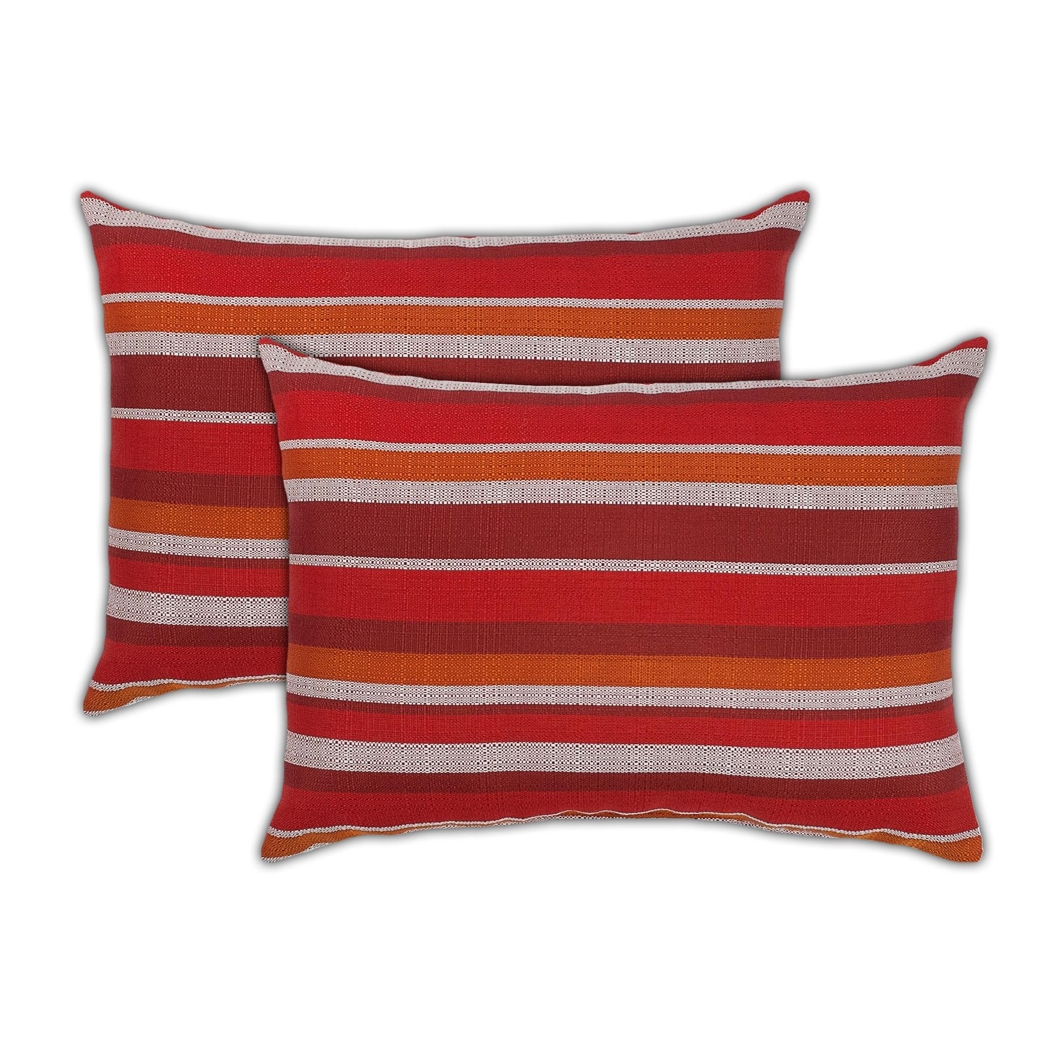 Sherry Kline Causeway Boudoir Outdoor Pillows (Set of 2)