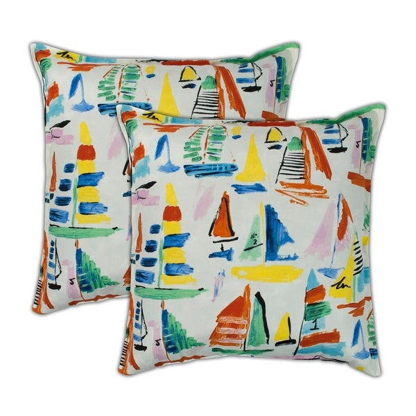 Shop Sherry Kline Sailboat 20 Inch Outdoor Pillows Set Of 2 On