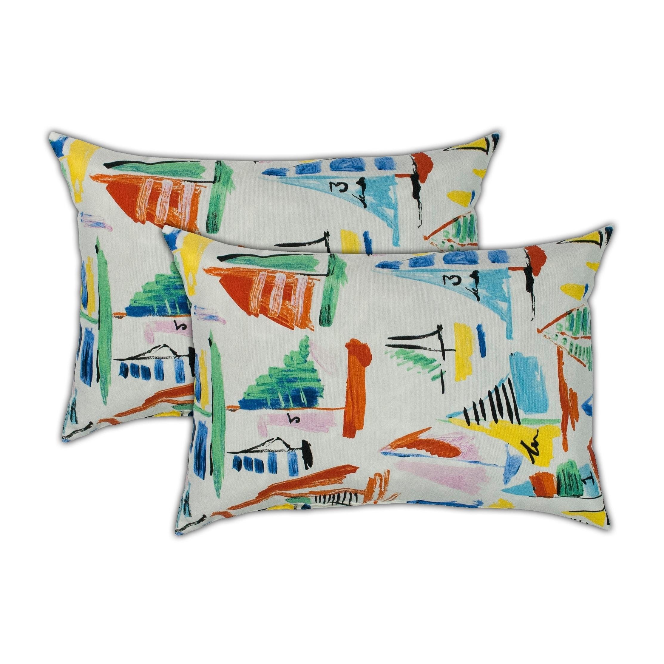 Sherry Kline Sailboat Boudoir Outdoor Pillows (Set of 2)