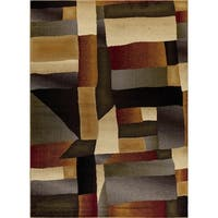 Mod-Arte, Crown Collection, CR07, Multi Modern Abstract Area Rug