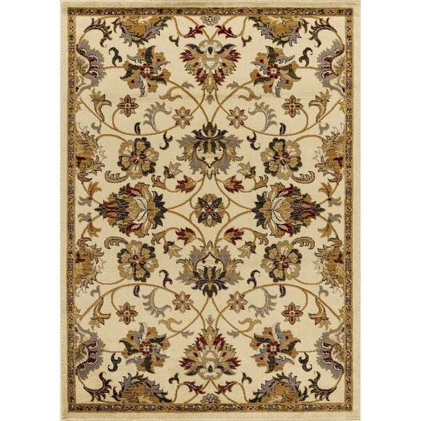 Mod-Arte Crown, CR04,Persian Inspired, Medaliion Print & Classic Border Traditional Area Rug