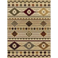 "Mod-Arte Crown Collection, CR05, South Western Modern contemporary Area Rug, 7'8"" x 10'2"""