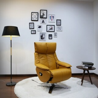 Vienna Collection by Mac Motion Otto Recliner in Yellow Top Grain Leather