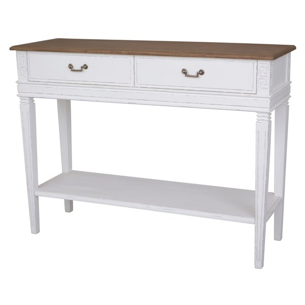 International Caravan Ashbury Distressed Wood 2-drawer Console Table