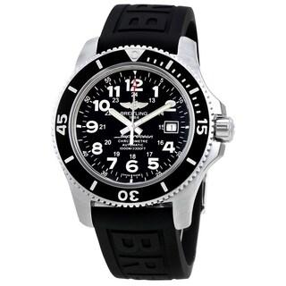 Breitling Men's 'Superocean II 44' Automatic Black Rubber Watch
