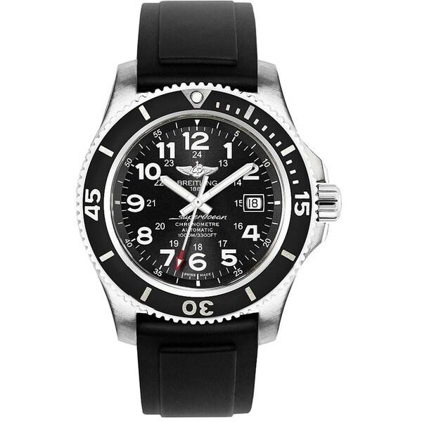 Breitling Men's A17392D7-BD68-131S 'Superocean II 44' Automatic Black Rubber Watch