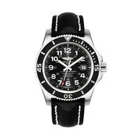 Breitling Men's A17392D7-BD68-435X 'Superocean II 44' Automatic Black Leather Watch