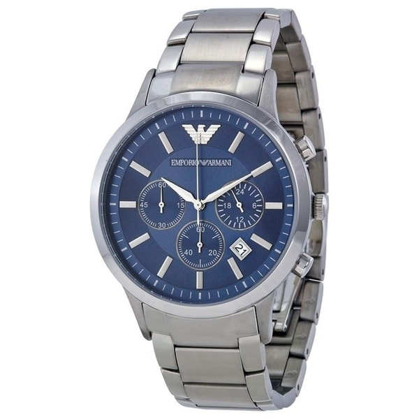 c06c6013e02 Shop Emporio Armani Men s  Sportivo  Chronograph Stainless Steel Watch -  Free Shipping Today - Overstock - 22391151