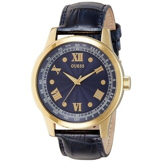 Guess Men's 'Dress' Blue Leather Watch