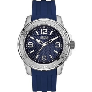 Guess Men's W0682G1 'Dress' Blue Rubber Watch
