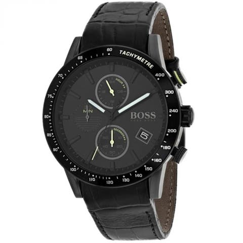 Hugo Boss Men's 1513389 'Classic' Chronograph Black Leather Watch