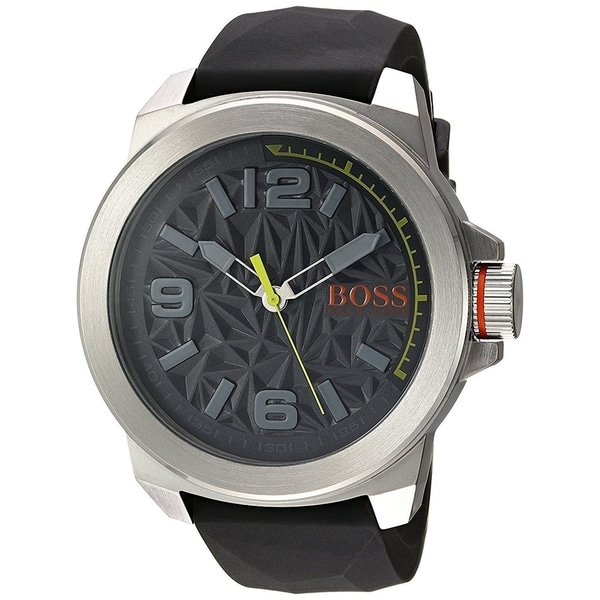0d3b2e8d09e1f5 Shop Hugo Boss Men's 'Classic' Black Silicone Watch - Free Shipping Today -  Overstock.com - 22391165