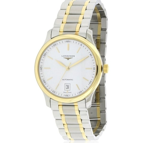 Longines Men's 'Master Collection' 18kt Yellow Gold Automatic Two-Tone Stainless Steel Watch. Opens flyout.