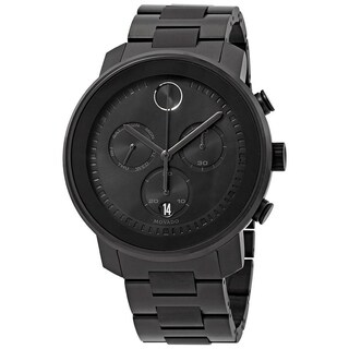 Movado Men's 3600484 'Bold' Chronograph Black Stainless Steel Watch