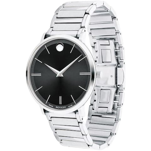 Movado Men's 0607167 'Ultra Slim' Stainless Steel Watch