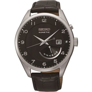 Seiko Men's SRN051 'Neo' Automatic Black Leather Watch