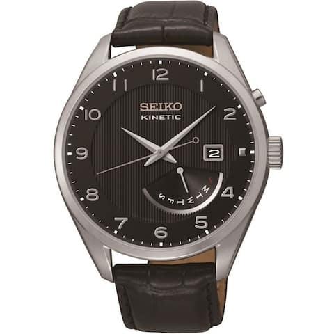 Seiko Men's 'Neo' Automatic Black Leather Watch