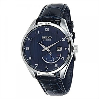 Seiko Men's SRN061 'Neo' Automatic Blue Leather Watch