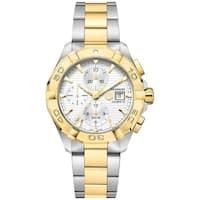 Tag Heuer Men's CAF2120.BB0816 'Aquaracer' 18K Gold Chronograph Automatic Two-Tone Stainless Steel Watch