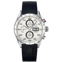 Tag Heuer Men's CV2A11.FT6005 'Carrera' Chronograph Automatic Black Rubber Watch