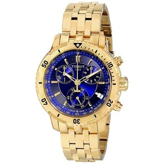 Tissot Men's 'PRS 200' Chronograph Gold-Tone Stainless Steel Watch