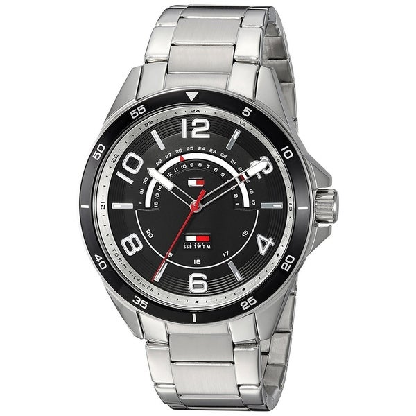 602d87b8b6d Shop Tommy Hilfiger Men s 1791394  Classic  Stainless Steel Watch - Free  Shipping Today - Overstock - 22391228