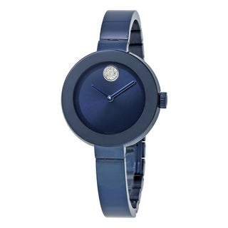 Movado Women's 3600425 'Bold' Crystal Blue Stainless Steel Watch