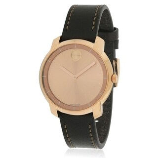 Movado Women's 3600475 'Bold' Brown Leather Watch