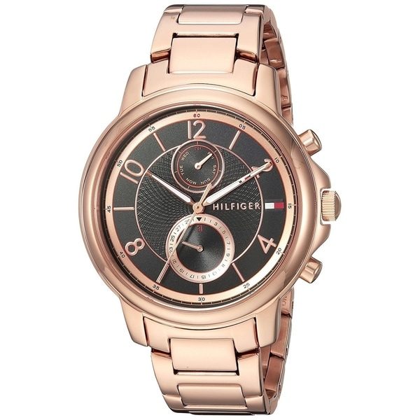 4a940ea4804d0 Shop Tommy Hilfiger Women's 'Claudia' Multi-Function Rose-Tone Stainless  Steel Watch - Free Shipping Today - Overstock - 22391271