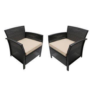 St. Lucia Outdoor Wicker Club Chairs (Set of 2)by Christopher Knight Home (Tan/Brown)