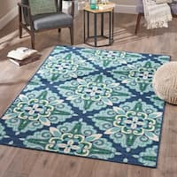 Reid Indoor Floral Area Rug by Christopher Knight Home - 5'3 X 7'6