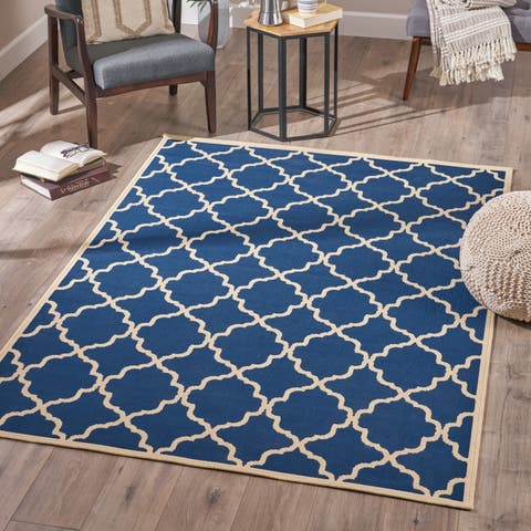 Serafin Indoor Geometric Area Rug by Christopher Knight Home - 5'3 X 7'6