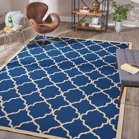 Serafin Indoor Geometric Area Rug by Christopher Knight Home - 7'10 x 10'10