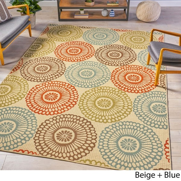 Shop Anniston Indoor Floral 8 X 11 Area Rug By Christopher Knight